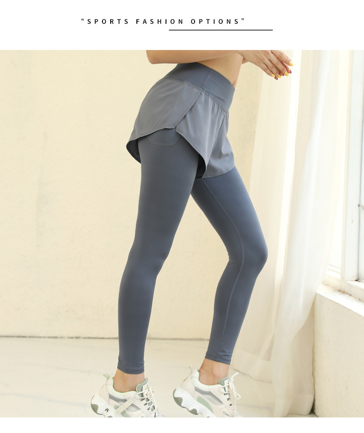 Two Pieces Invisible Pocket Leggings