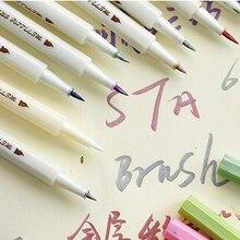 STA 10 Colors Metallic Marker Pen Set DIY Scrapbooking Crafts Card Making Brush/ Round Head Art Pen For Drawing