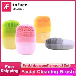 InFace официальная щетка для чистки лица Mijia глубокое очищение лица водонепроницаемый силиконовый электрический Соник для очистки Xiaomi цепь по...