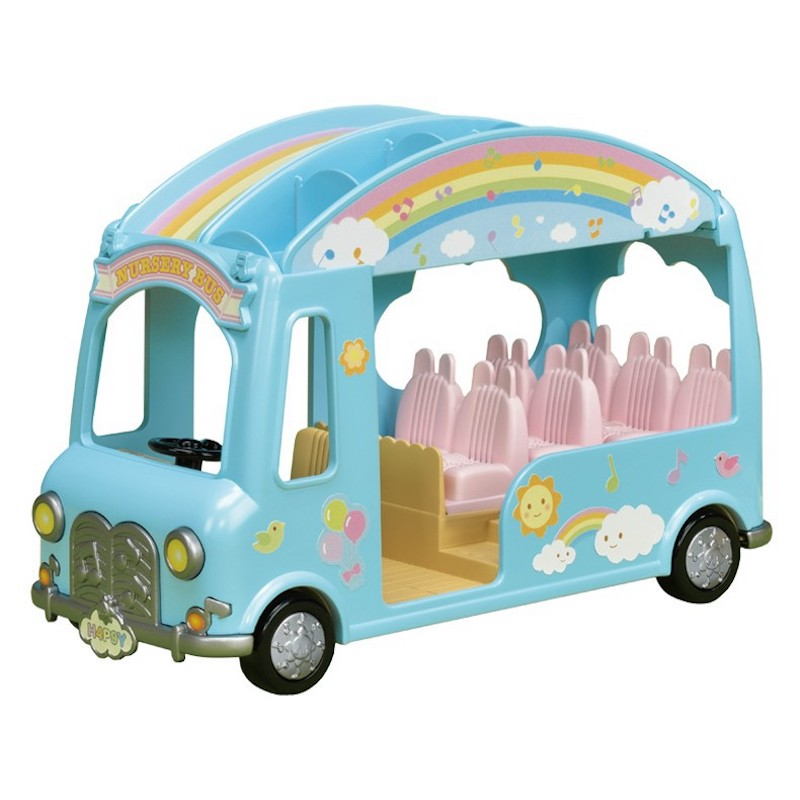 Sylvanian Families Toy Sylvanian Families Rainbow School Bus Children GIRL'S Play House Kindergarten Bus 5317