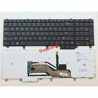 US клавиатура на замену для Dell Latitude E5520 E5520M E5530 E6520 E6530 E6540 черный с задней подсветкой указатель клавиатура
