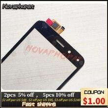 Novaphopat Zwart sensor Touchscreen Voor BQ BQ 5011G BQ 5011G Vos View/BQ 5015L 5015L Eerste Touch Screen Digitizer Screen