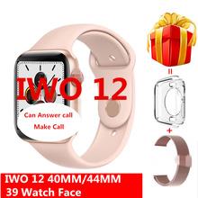 Inteligentny zegarek IWO 12 Pro Smartwatch seria 5 IWO12 1 1 ekg tętno bezprzewodowe ładowanie dla Iphone Android VS IWO 11 IWO 9 IWO 8 tanie tanio ivanony Android Wear Na nadgarstku Wszystko kompatybilny 256MB Passometer Fitness tracker Uśpienia tracker Wiadomość przypomnienie
