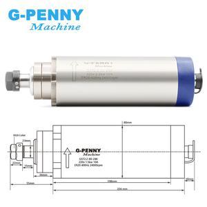 Image 3 - CNC milling spindle motor kit 2.2kw air cooled spindle ER20 4 bearings 220v 24000rpm  CNC spindle & 80mm aluminum holder bracket