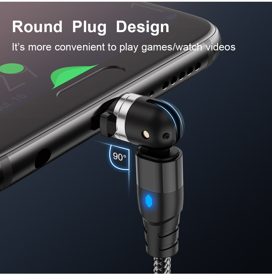 540° Magnetic Charging Cable