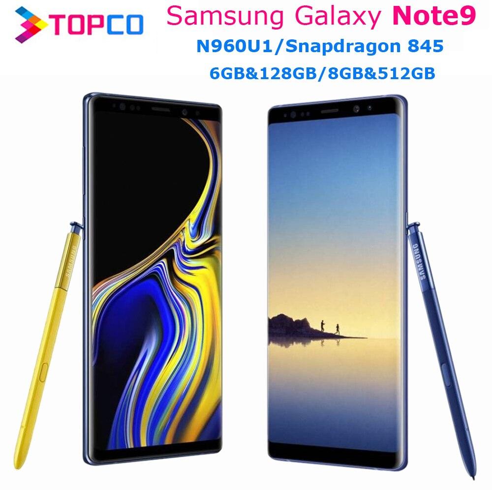 """Samsung Galaxy Note9 Hinweis 9 N960U 128GB/512GB N960U1 Entsperrt Handy Snapdragon 845 Octa Core 6.4 """"Dual 12MP 6GB/8GB NFC"""