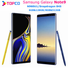 Samsung galaxy note9 nota 9 n960u 128gb/512gb n960u1 desbloqueado telefone móvel snapdragon 845 octa núcleo 6.4