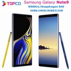 Samsung Galaxy Note9 Note 9 N960U 128GB/512GB N960U1 Unlocked Mobile Phone Snapdragon 845 Octa Core 6.4