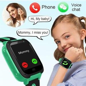 CARPRIE Kids Smart Watch S4 Kids Smart Watch Phone, LBS/GPS SIM Card Child SOS Call Locator Camera Screen for Android IOS Phones