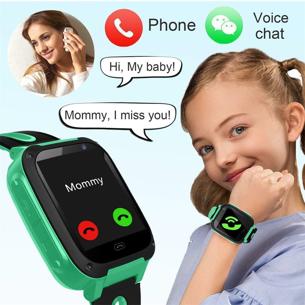 CARPRIE Kids Smart Watch S4 Kids Smart Watch Phone, LBS/GPS SIM Card Child SOS Call Locator Camera Screen for Android IOS Phones
