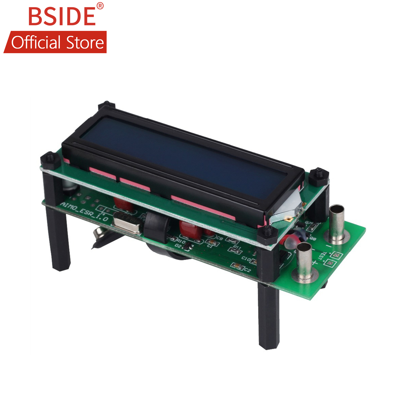 BSIDE ESR01 Auto Range Digital LCR Tester Resistance Capacitance Inductance Measurement Capacitor ESR Meter USB Power