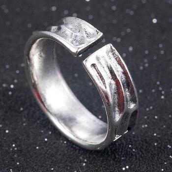 Punk Fashion Style Antique Retro Male Jewelry Viking Ring Female Black Amulet Vintage Norse Rune Rings For Women Men 3