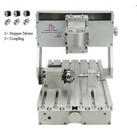 CNC 3020 frame kit assembled mini CNC router lathe 4axis rotary axis for diy CNC 65mm spindle Nema23 motor Engraving Machine