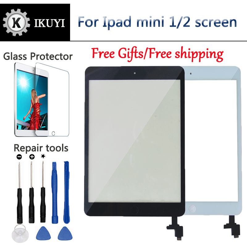New For iPad Mini Screen 1 iPad Mini 2 Touch Screen A1432 A1454 A1455 A1489 A1490 A149 Digitizer IC Cable Home Button Mini2