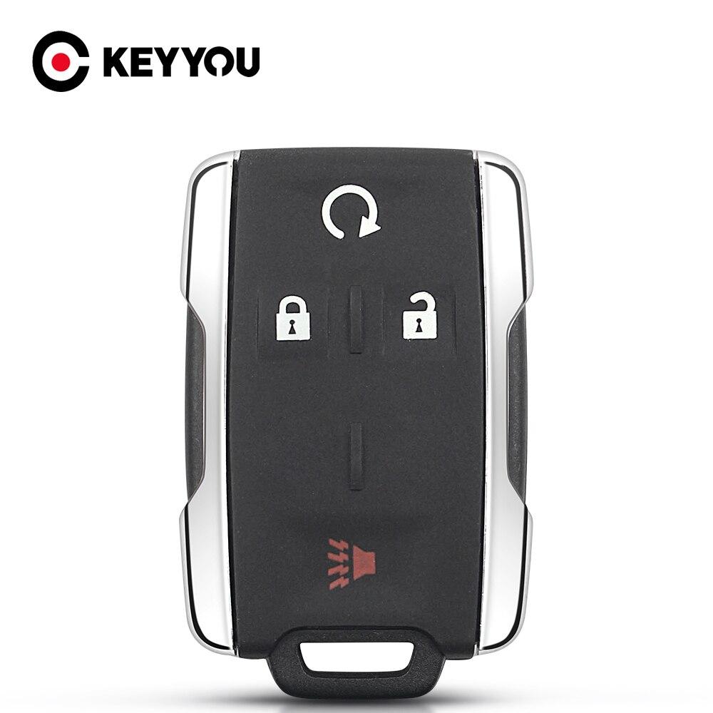 Чехол KEYYOU для входа без ключа для Chevrolet Tahoe Suburban Sierra Silverado дистанционный смарт-брелок корпус для GMC Yukon XL