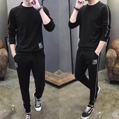 Men's Long Sleeve Sports Set Men's Spring And Autumn Two-Piece Set MEN'S Casual Suit Jogging Suits Two Set