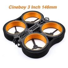 Nouveau Cineboy 3 pouces 146mm Cinewhoop Whoop aéronef sans pilote (UAV) Kit de cadre avec hélice housses de protection pour RC Drone FPV course quadrirotor pièces