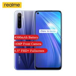 Смартфон Realme 6, полный экран 6,5 дюйма, 90 Гц, Helio G90T восемь ядер, 64 мп, Android 10, камера 4300 мАч, NFC
