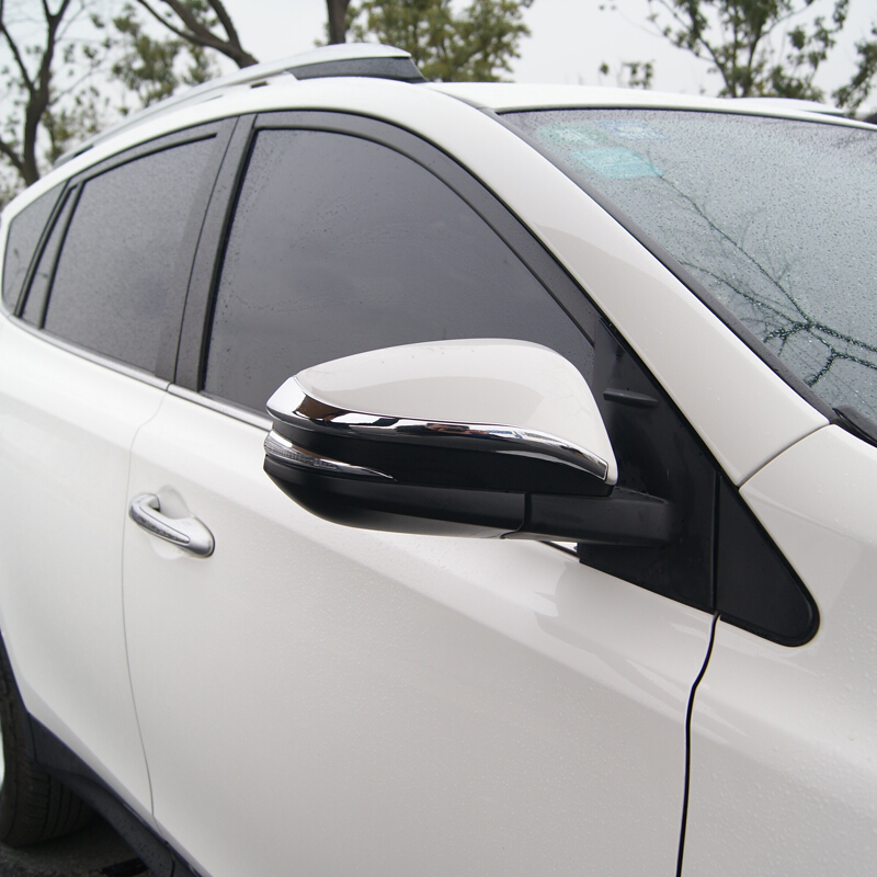 For <font><b>Toyota</b></font> <font><b>4Runner</b></font> 2014 2015 2016 <font><b>2017</b></font> ABS Chrome Car Side Door Rearview mirror decoration strip Cover Trim Accessories 2pcs image
