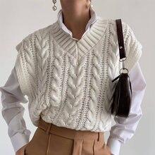 Женский винтажный свитер с v образным вырезом на завязках