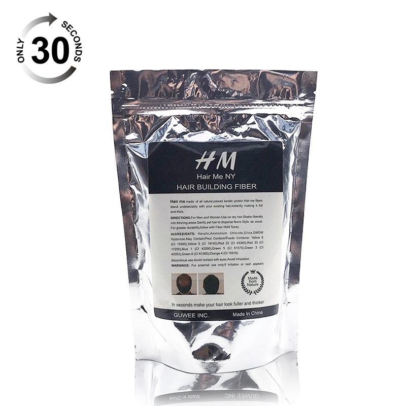 Hair Me 10 Colors  Hair Fiber Powder 50g 1pcs Hair Fibers Building Extensions Powder Refill Bags Hair Loss Products