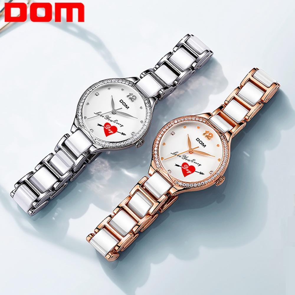 Permalink to DOM Quartz Watches Women Fashion Waterproof Watch 2019 Top Brand Luxury Ladys Ceramics Band Women Watch Relogio Feminino G-1271X