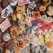 Journamm 100 sztuk Butterfly księżyc znaczki uroczy papier do Deco Journal i biurowe karty LOMO biurowe notatnik kartki samoprzylepne