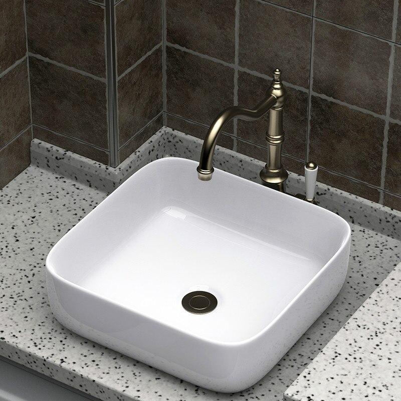 White Ceramic Wash Hand Basins Square
