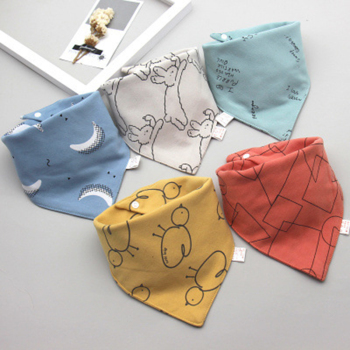 5Pcs/Set Baby Bibs Cotton Bandana Bibs