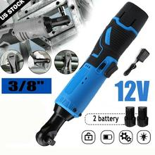 Right Angle Wrench Electric Cordless Electric Nuts Wrench 12V Ratchet Wrench Remove Screws Nuts Auto Repair Tools