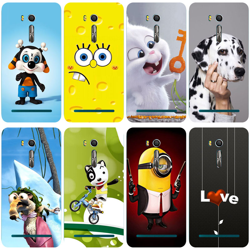 Luxury Painted TPU Soft Print Phone Case for <font><b>Asus</b></font> <font><b>Zenfone</b></font> Go ZB552KL <font><b>X007D</b></font> Soft Silicone Back Cover Cases Pattern Shell image