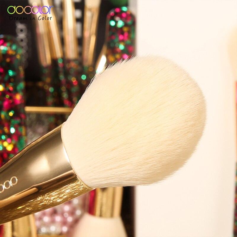 Image 3 - Docolor 14Pcs Christmas Makeup Brushes Professional Powder Foundation Eyeshadow Make up Brushes Set Synthetic Hair Cosmetic ToolEye Shadow Applicator   -