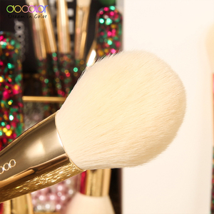 Image 3 - Docolor 14Pcs Christmas Makeup Brushes Professional Powder Foundation Eyeshadow Make up Brushes Set Synthetic Hair Cosmetic Tool