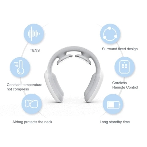 Remote Smart Neck and Shoulder Massager Electric Pain Relief Tool Health Care Relaxation Cervical Vertebra Physiotherapy 5