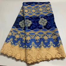Tela de encaje de terciopelo africano con piedras, cordón nigeriano francés de alta calidad, encaje de algodón guipur para ropa, novedad de 2020