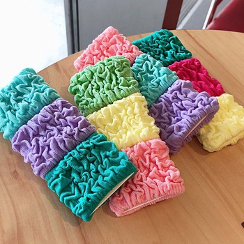 3PCS/Set New Women Girls Colorful Folds Scrunchie Ponytail Holder Sweet High Elastic Hair Rubber Bands Fashion Hair Accessories