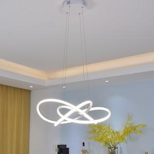 Image 3 - Black/White modern led chandelier lighting for living room bedroom restaurant kitchen pendant chandeliers home indoor lighting