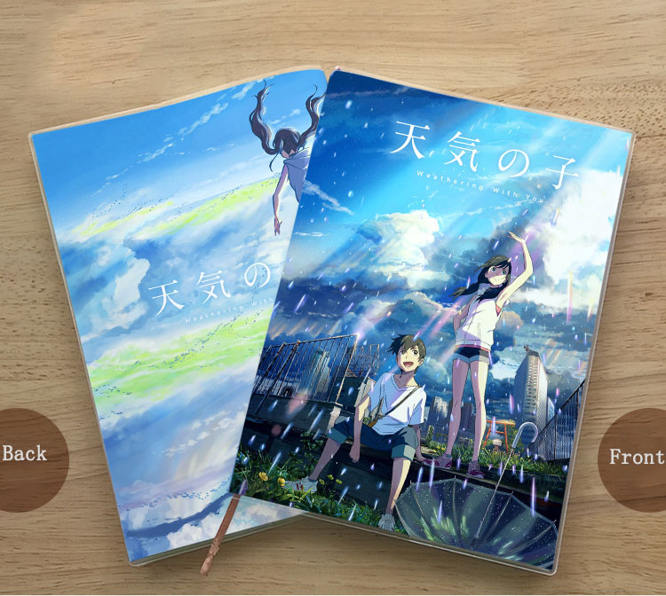 Anime Weathering With You Exercise Book Journal Collectibles Notepad Diary School Student Stationery Notebook Birthday Gift