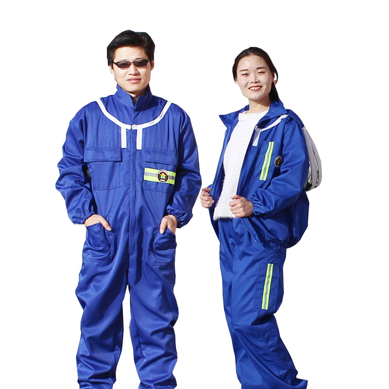 1set Beekeeping Suit Protective Cloth Blue Work Clothes Breathable Wear-resistant Anti Sting And Honey Collection For Beekeeper