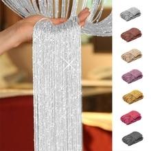 Curtain Tassel-String Home-Decoration Flash-Line Window-Room-Divider Crystal Cortinas