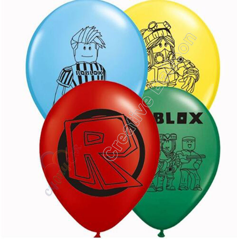 New Style Roblox Latex Balloon Party Decoration Children's Toy Balloon Decoration