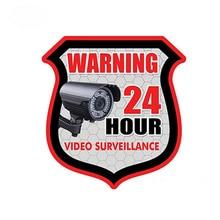 Estilo de coche etiqueta engomada del coche de 24 horas de seguridad de VIDEO vigilancia alarma etiqueta pegatinas impermeable de Van etiqueta KK 13*11cm