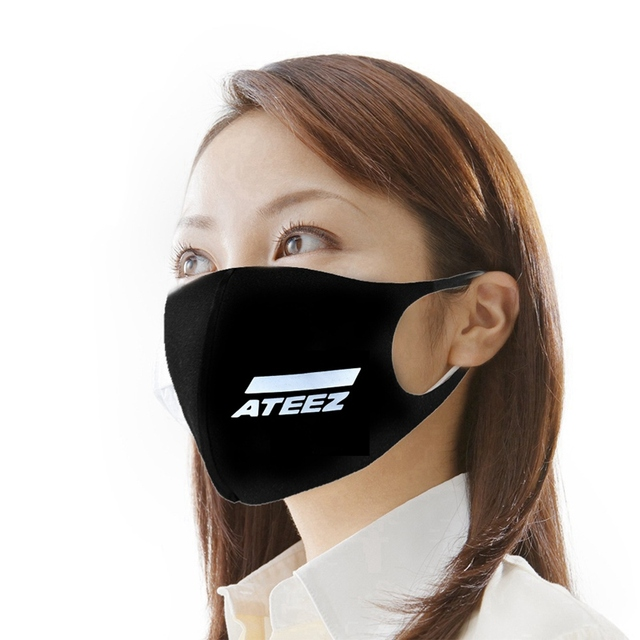 KPOP ATEEZ New Album AURORA TREASUREEP FIN ALLTO ACTION Woderland DazzlingLight Dustproof FaceMask Laser Pink Winter MASK