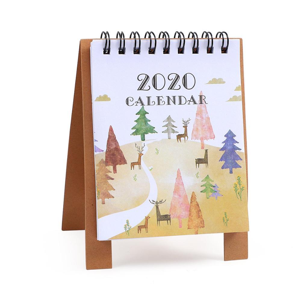 JIANWU милые Мультяшные животные настольный мини-календарь, школьный офис, кавайный планировщик, Настольный календарь - Цвет: senlin