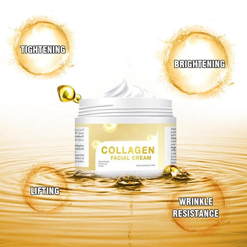 Collagen Face Cream Lifting Firming Facial Cream Hyaluronic Acid Moisturizing Anti Wrinkle Whitening Day Cream Korean Skin Care