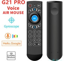G21 Pro 2.4G Wireless Remote Control  With BackLight IR Voice Air Mouse For Smart TV Android TV Box Raspberry PI PC Computer