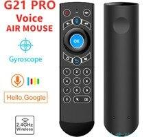 G21 Pro 2.4G télécommande sans fil avec rétro éclairage IR voix Air souris pour Smart TV Android TV Box framboise PI PC ordinateur