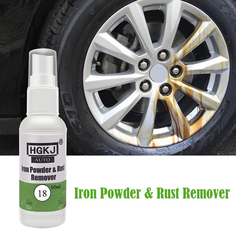 HGKJ-18 Iron Powder Rust Remover Neutral Wheel Cleaner No Need To Rub Easy To Decontaminate