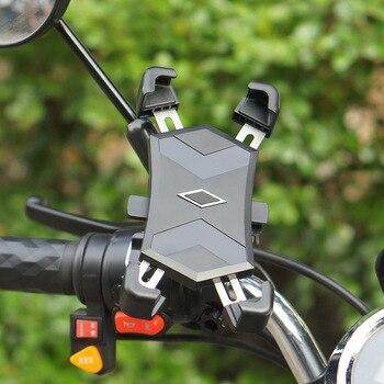 ABZB-Adjustable Bike Phone Holder 360 degree Rotation Bicycle Motorcycle Handlebar Universal Bike Mount Holder for iPhone XS/Max