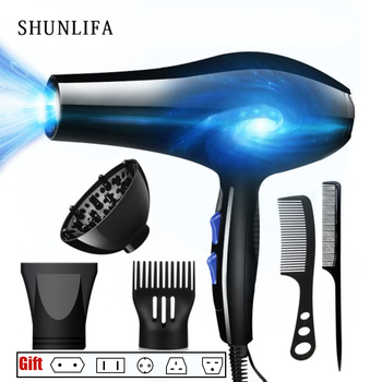 SHUNLIFA 2200W Powerful Professional Hair Dryer Tools Dryer Negative Ion Hair Dryers Electric Blow Dryer Hot / Cold Air Blower 2200w power hair dryer professional salon blow dryer 2200w hairdryer styling tools salon household use hairdresser blower hair